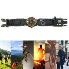 Newest ArrivalMultifunctional Bracelet Field Survival Men's Braided Bracelets Outdoor Camping Rescue Watch Camping Adventure Eme