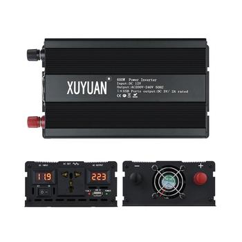 XUYUAN Household Inverter 12V-220V 600W Voltage Transformer Digital Pure Sine Wave Power Inverter with Air Conditioning