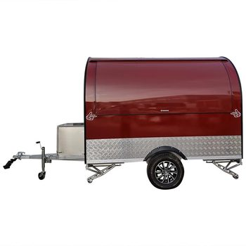 custom made food truck concession food trailer Red Stainless Steel Concession Food Trailer Food Truck