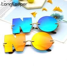Солнцезащитные очки унисекс Круглые без оправы в стиле панк