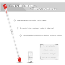 Nasedal 0.8mm Airbrush Nozzle Needle Replacement for Airbrushes Spray Gun Model Spraying Paint Accessories