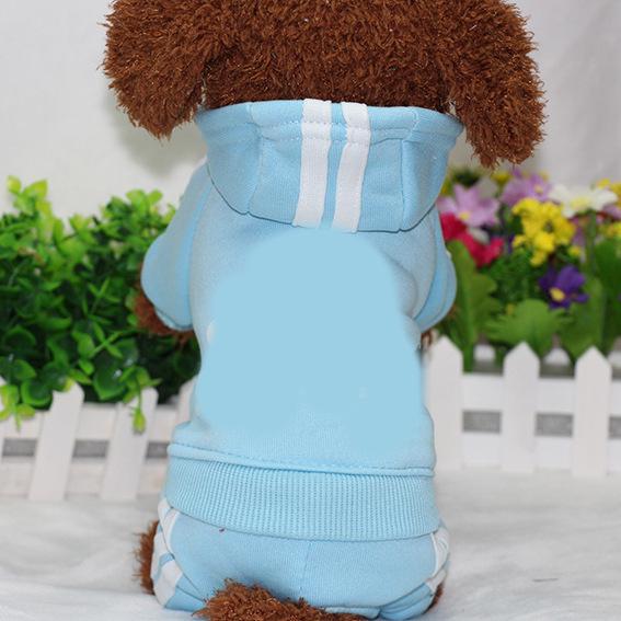 PUOUPUOU Winter Warm Pet Dog Clothes Hoodies Sweatshirt for Small Medium Dogs French Bulldog Sweet Puppy Dog Clothing XS-XXL 22