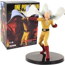 19cm anime um soco homem figura brinquedo saitama sensei dxf herói pvc figura de ação modelo boneca collectible figura crianças presente