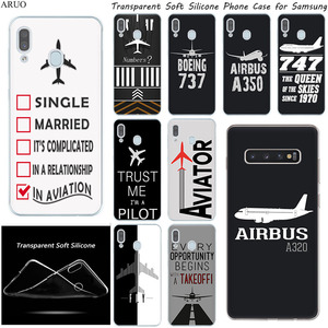 Airplane DIY Airstrip number Silicone phone case for Samsung Galaxy A71 A51 A10S A80 A70 A50 A90 A30 A40 A20 A41 A21 A60 A31 A11(China)