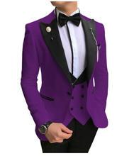 Jeltonewin новейший дизайн пальто брюки фиолетовый мужской Костюм
