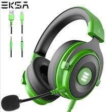 Eksa e900 pro gaming headset gamer 7.1 surround prendido fones de ouvido pubg fones de ouvido com cancelamento de ruído microfone para pc ps4 xbox móvel
