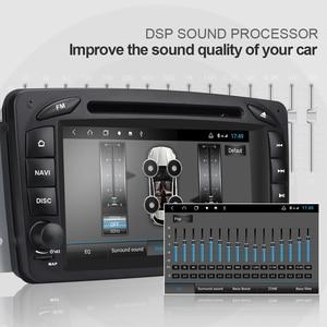 Image 4 - Isudar H53 4G Android 2 Din otomobil radyosu Için Mercedes/Benz/W209/W203/Viano/W639 /Vito Araba Multimedya GPS 8 Çekirdekli RAM 4GB ROM 64G DVR