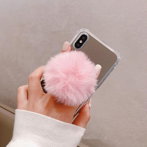 Mobile-Phone-Bracket Stand Huawei iPhone Colorful Plush-Ball Universal for Cute