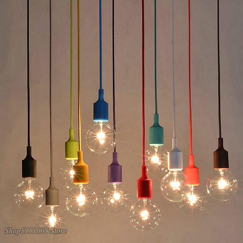 Modern Small Pendant Light Creative Personality Loft Nordic Restaurant Light Bar Lamp Single Head Edison Light Bulb Pendant Lamp