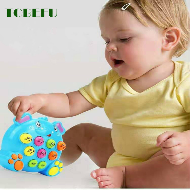 Plastic Music Toys Baby Kids Play Knock Hit Hamster Insect Game Playing Fruit Worm Educational Instrumentos Musicais