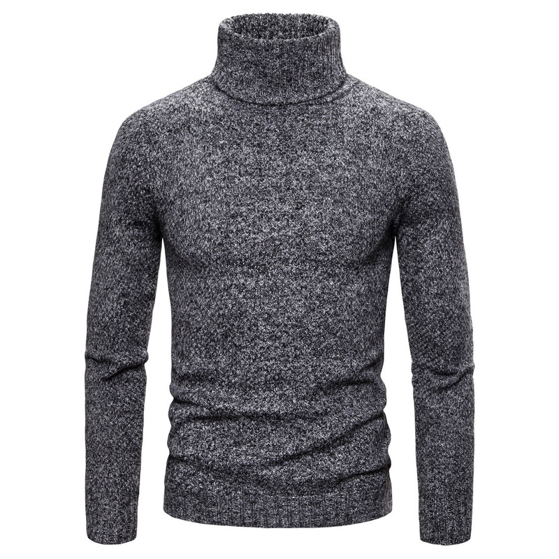 16 Colors GustOmerD 2019 Winter Pullovers Sweater Men Fashion Slim Fit England Style Mens Sweaters Casual Warm Turtleneck Men