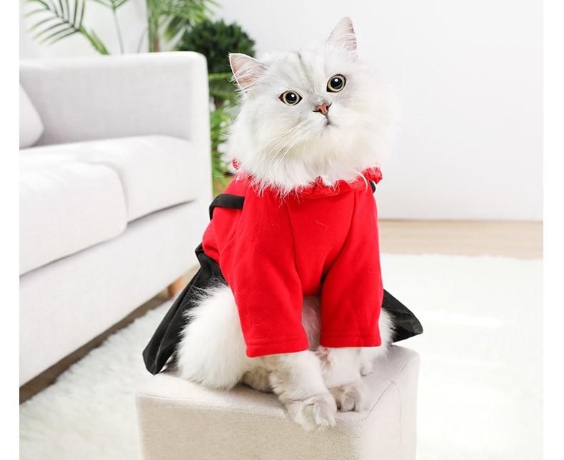 XS FXC Ropa de Mascotas Winter Warm Cartoon para Perros peque/ños Gatos Soft Fleece Cat Dog Coat Jacket Puppy Clothing Outfits Chihuahua Pug Costume 10