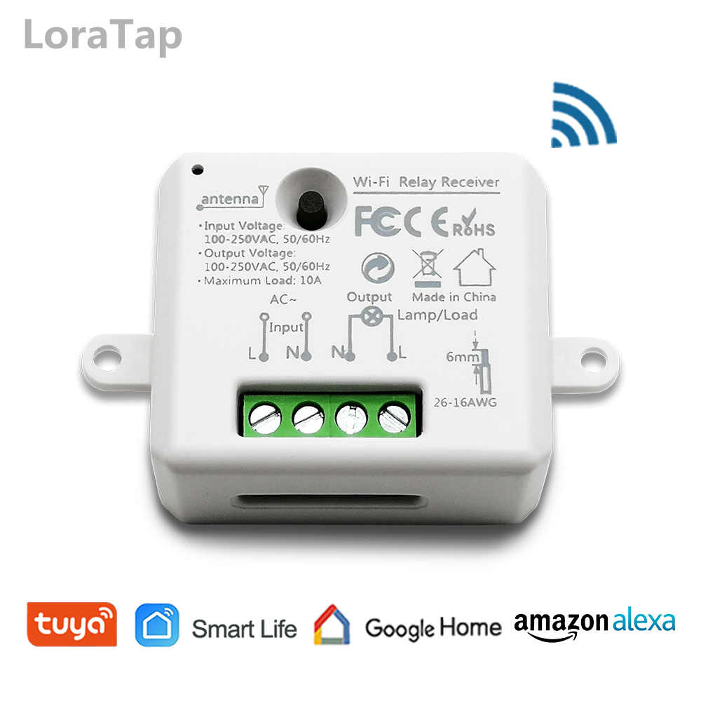 WiFi Switch Mini Relay Module ESP8266 Tuya App Remote Control Your Lights Voice Control with Google Home Amazon Alexa Echo IFTTT
