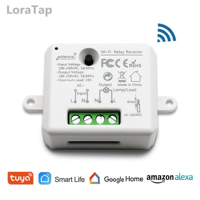 Tuya Vida Inteligente WiFi Tomada Interruptor módulo de Relé Disjuntor controle remoto google Casa Echo Alexa tomada de luz de automação residencial inteligente