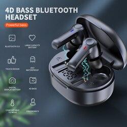 Bluetooth 5.0 casque sans fil écouteur TWS casque mains libres appel affaires écouteurs Sport casque avec micro pour téléphones intelligents