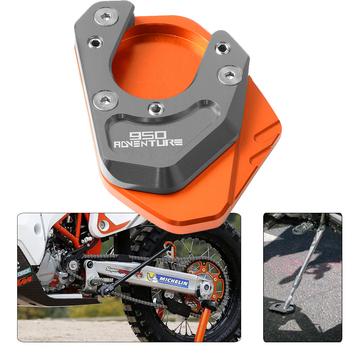 CNC Aluminum Motorcycle Side Stand Pad Enlargement Plate Kickstand Extension For KTM 950 Adventure 2003 2004 2005 2006