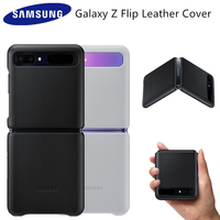 Original Samsung Z Flip Genuine leather Cover Case For Samsung Galaxy Z Flip 5G Phone Cases EF VF700