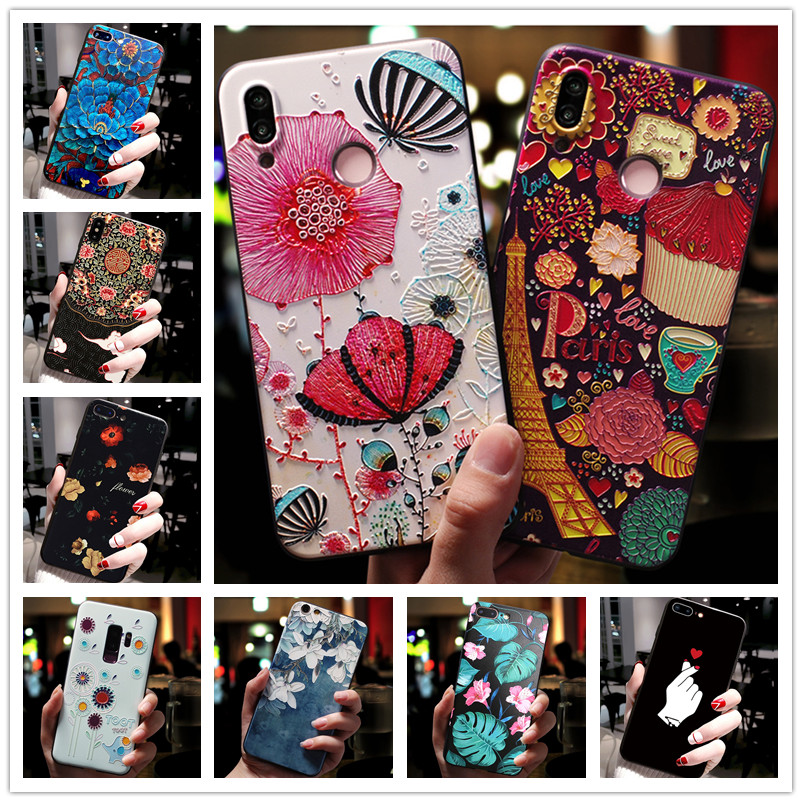 For Vivo Y17 Case 3D Flower Emboss Silicone Phone Cases For Vivo Y15 Y12 Z5X Y91i Y91C Y95 Y91 V11I Y97 Y71 Cover Soft Z1 Pro(China)