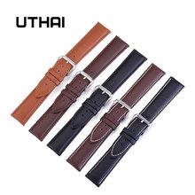 UTHAI Z24 pasek do zegarka 22mm skórzane paski do zegarków 10-24mm od zegarków akcesoria do zegarków wysokiej jakości pasek zegarka 20mm tanie tanio Pin buckle Skóra Nowy z metkami 21cm