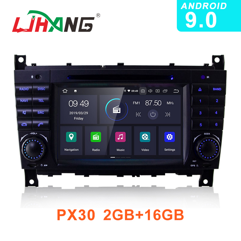 LJHANG <font><b>Android</b></font> 9.0 Car DVD Multimedia Player For <font><b>Mercedes</b></font> Benz <font><b>W203</b></font> CLK200 CLK22 C180 <font><b>GPS</b></font> Navi WIFI 2 Din Car Radio Stereo Audio image