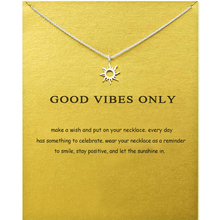 Sun Gold Necklace Pendant Necklace Chain Necklace Choker Necklace For Women Fashion Jewelry Best Friend ,Birthday Gift jian natural green pendant necklace choker women fashion jewelry birthday gift for girlfriend vintage chain collares
