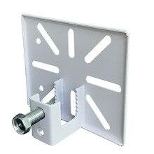 תרגיל משלוח פלדת מבנה סדנת מחסן מעקה Mounts סוגר מצלמת מעקב אני קרן אלומיניום לבן 110x90mm
