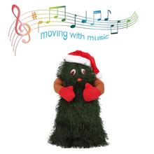 12 дюймов Рождественская Поющая и Танцующая электрическая игрушка плюшевая музыка вращающаяся Танцующая елка Рождественские украшения