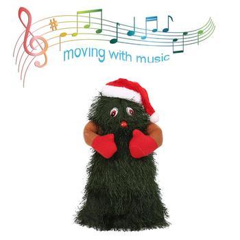 12 Cal boże narodzenie śpiew i taniec zabawka elektryczna elektryczny pluszowy zabawka muzyka obracanie taniec drzewo bożonarodzeniowe dekoracje akcesoria tanie i dobre opinie plush toy Pp bawełna 2-4 lat 5-7 lat Dorośli 14 lat 8 ~ 13 Lat 11 cm-30 cm Zwierzęta i Natura accept Christmas Electric Plush Toy