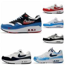 Oferta specjalna najnowsze Max 1 87 modne męskie i damskie buty do biegania skórzane siatkowe oddychające sznurowane buty sportowe 36-45