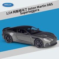Welly-1:24 애스턴 마틴 DBS 슈퍼레거라 합금 자동차 모델, 다이캐스트 및 장난감 차량, 선물 수집, 비원격 제어 유형 운송