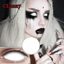 22mm White Sclera Cosplay Contacts Lenses Soft Eyewear Black Blind Eyewer линзы для глаз Halloween