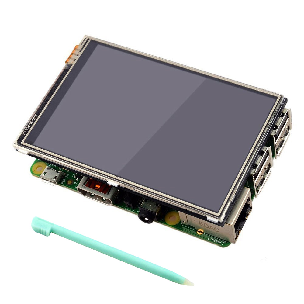 VONETS 3.5 inch <font><b>320</b></font> x <font><b>480</b></font> RGB Pixels HD Display Touch Screen with Pen for Raspberry Pi 2 3 Model Modelo B Gadgets Accessories image