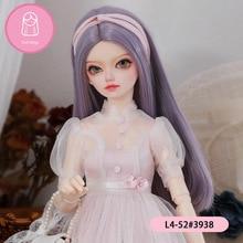 Perruque haute température naturelle, cheveux longs pour poupée BJD sd, accessoires de poupée, taille 18-19cm 1/4 7-8 pouces
