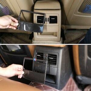 Image 2 - For BMW 3 Series E90 2005 2006 2007 2008 2009 2010 2011 2012 Carbon Fiber Car Rear Air Condition Vent Air Outlet Frame Cover