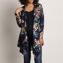 Women Autumn Cardigan Patchwork Long Womens Boho Style Floral Sleeve Womoens Coat Fashion New Ladies Cardigans