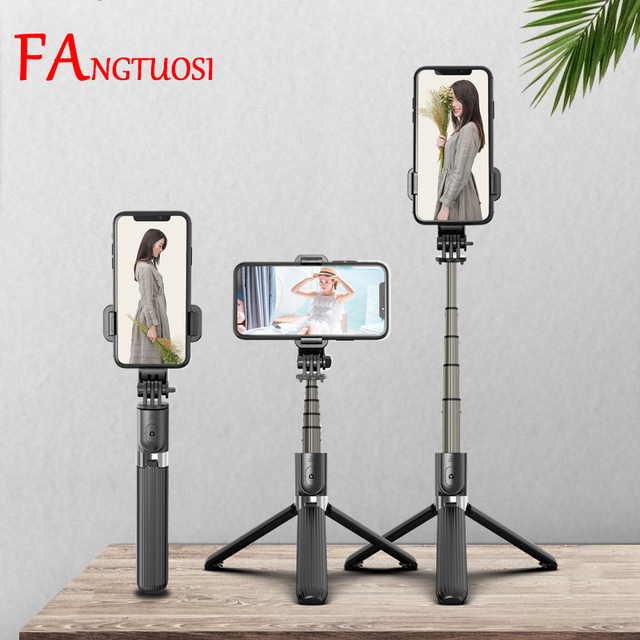 FANGTUOSI 3 in 1 Wireless Bluetooth Selfie Stick Aluminum Handheld Monopod Mini Tripod With Shutter Remote For IOS Android 1