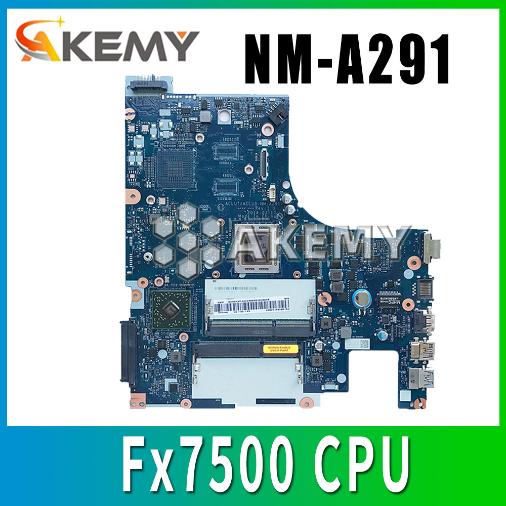Free Shipping For <font><b>Lenovo</b></font> Z50-75 <font><b>G50</b></font>-75 Notebok Motherboard ACLU7 ACLU8 NM-A291 mainboard placa Fx7500 image