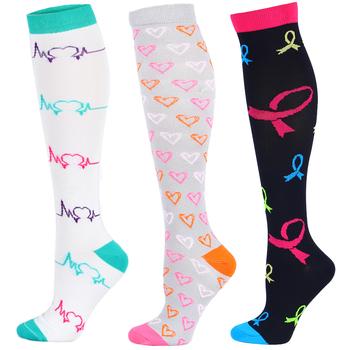 28 Color Elastic Compress Socks Made with Nylon Helps to Improve Blood Circulation and Pain Relief in Lower Leg