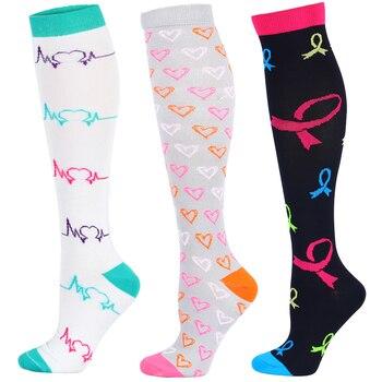 48 Color Elastic Compress Stocking Nylon Nurse Professional Pressure Women Medical Varicose Veins Leg Relief Pain Socks - discount item  20% OFF Men's Socks