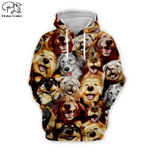 все цены на Men 3D Funny Dog All Printed Hoodie women cartoon animal Sweatshirt Harajuku zipper coat unisex pullover tshirt vest hooded