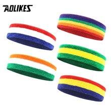 AOLIKES фитнес-бег повязка на голову для вело тренировок Пот повязка на голову для мужчин и женщин мужские эластичные дышащие Йога повязки для ...