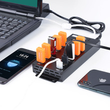 10 in1 USB2.0 hub HUB with power mobile phone ipad