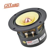 GHXAMP 4 インチ 25 5w フルレンジスピーカーハイファイ竹繊維アルミ流域高音ミッドレンジ厚い低音チューブアンプラウンド 1PC