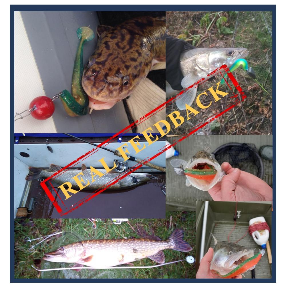 Vissen Lokken Zachte Lokken 90mm 120mm 160mm Wobblers Geur Lokstof - Visvangst - Foto 6