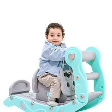 Baby 2 In 1 Rocking Horse and Slide Children's Riding Horse Indoor  Home Kids Slides Playground Toys Sport Multifunction Gift