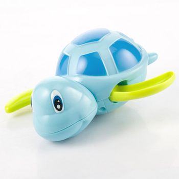 Single Sale Cute Cartoon Animal Tortoise Classic Baby Water Toy Infant Swim Turtle Wound-up Chain Clockwork Kids Beach Bath Toys 2