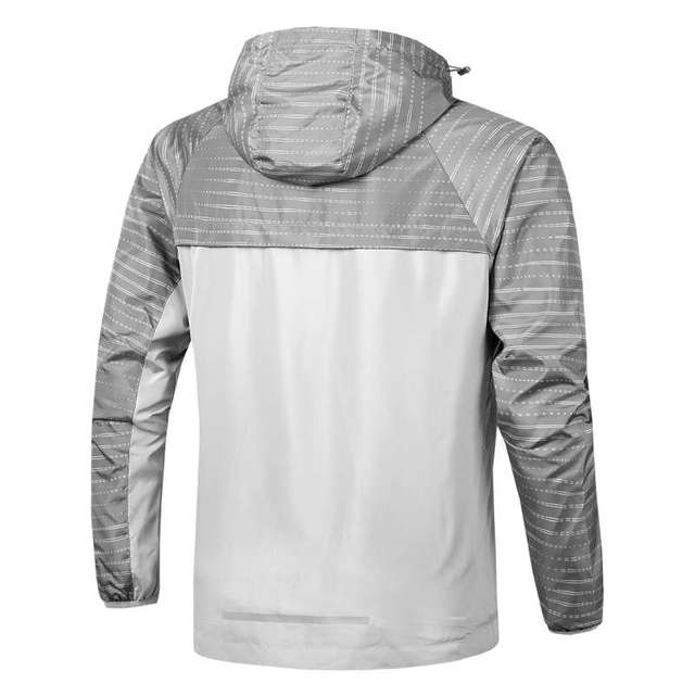 New Style In Stock High Quality Fashion Spring Autumn Running SportWear Jacket Thin Hooded Windbreaker Outdoor Jacket For Men 3