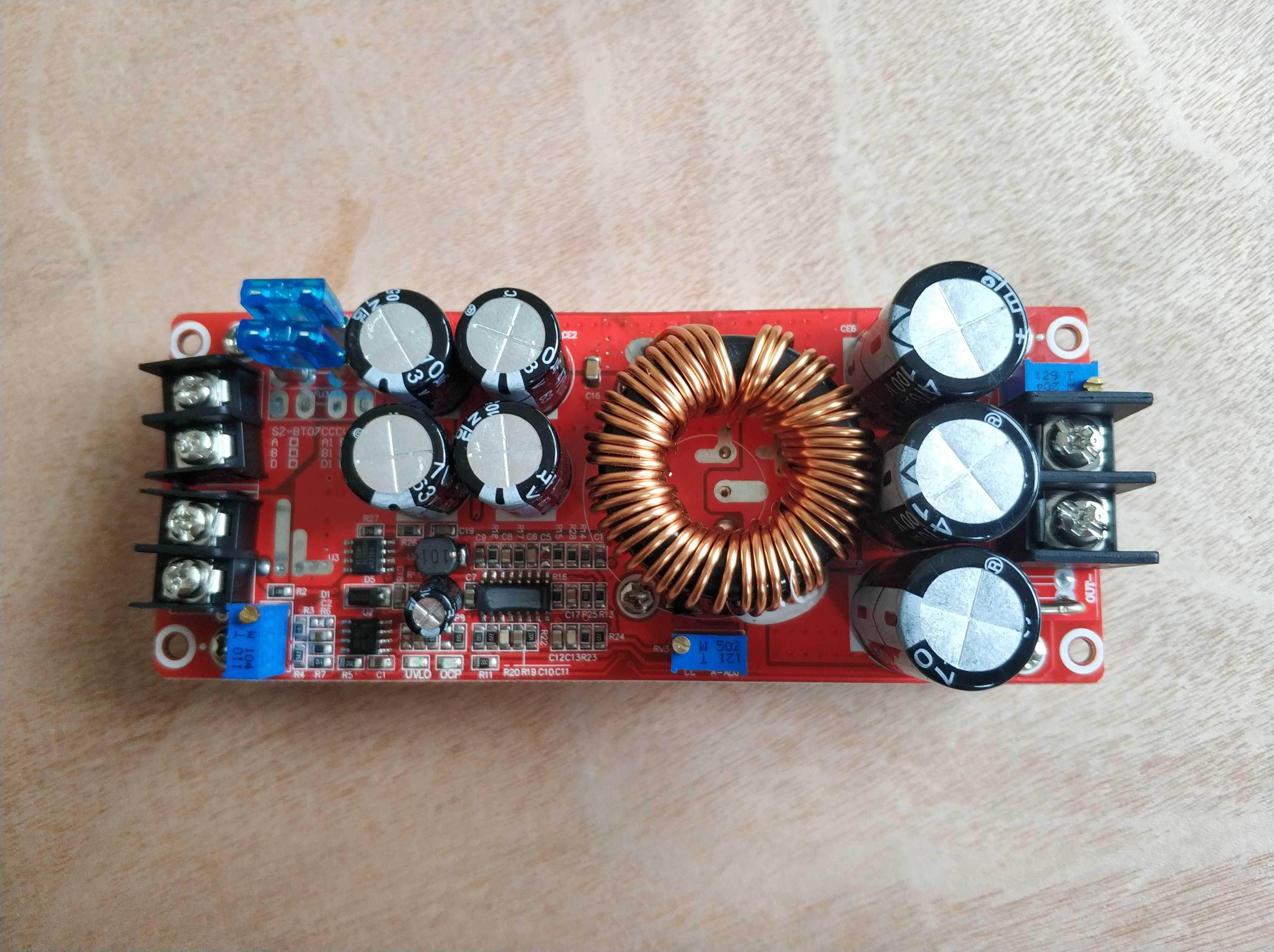 1500W30A высокий ток DC-DC постоянного тока постоянное напряжение 90 в постоянное увеличение тока модуль питания