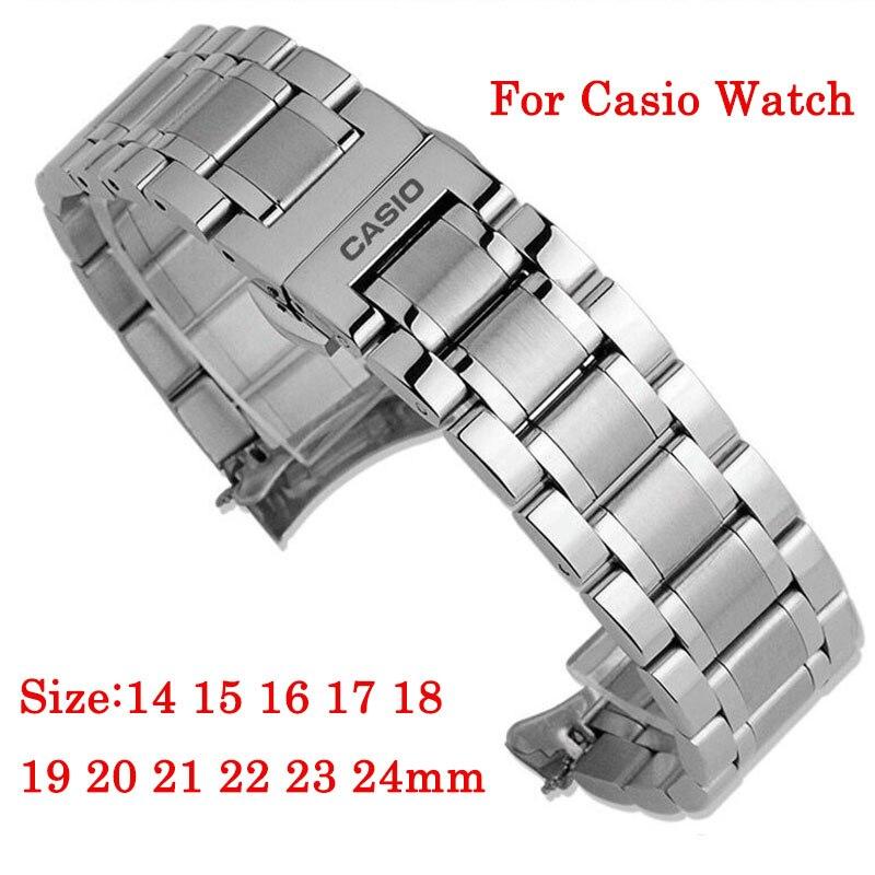 14 15 16 17 18 19 20 21 22 23 24mm Armband Für Casio BEM-501 506 507 517 Strap edelstahl Armband Uhr Band Armband