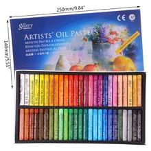 48 pastel de óleo de cor para artista estudante grafite macio pintura pastel desenho caneta u4ld